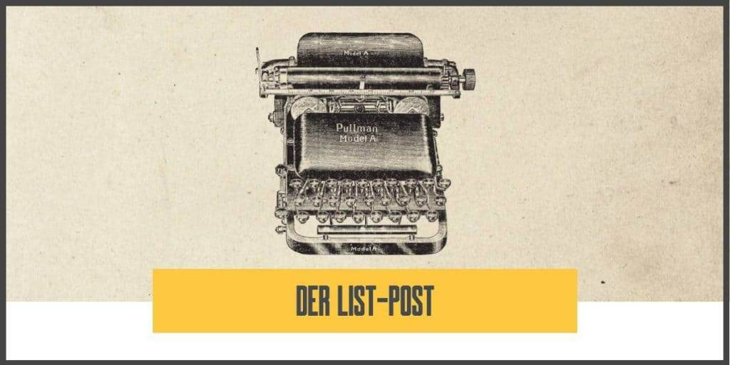 Blog schreiben - List Post