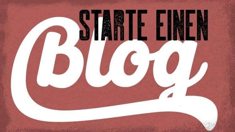 Geschäft aufbauen - Starte einen Blog